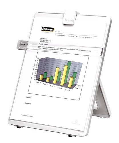 - Fellowes Letter Sized Non-Magnetic Copyholder, Platinum (21103)