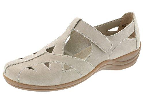 Les Femmes Remonte D2801-42 Chaussures De Confort En Cuir Gris Pantoufle 36-42