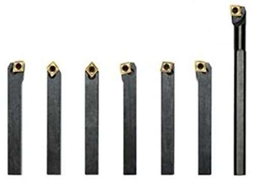 TOOL HOLDER 7 PCS SET 12MM + BORING BAR CCMT CARBIDE INSERTS ()