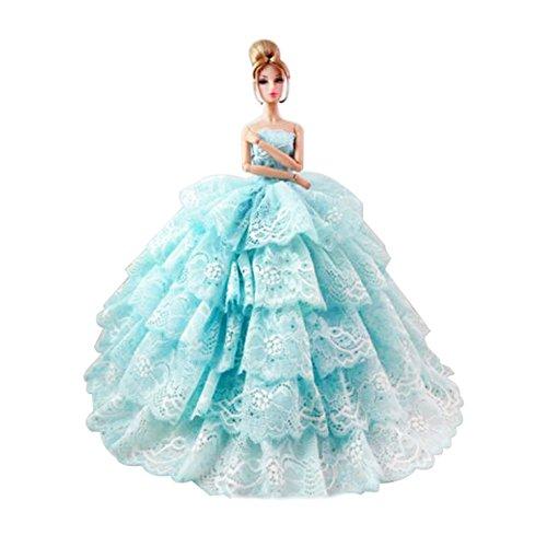 holiday barbie blue dress - 1