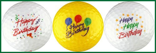 Happy Birthday Variety Golf Ball Gift Set