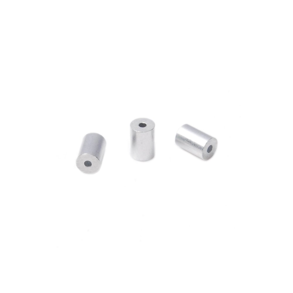 1.1mm Aluminum Wire Rope Cable Crimping Button Stop Sleeves Clip Fittings Loop #FLQ104-1.0 100pcs Pack 0.043