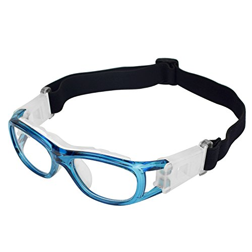 Elemart Unisex Kids Sport Glasses Anti-fog Protective Safety Goggles w/ Adjustable Strap for Basketball Football Hockey Rugby Baseball Soccer Volleyball and More - Glasses Sport Kids