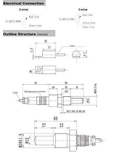 gurlleu industrial locomotive-use temperature transducer,-50°c~+200°