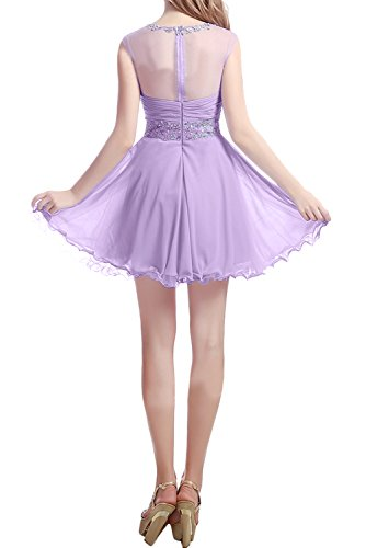Brautjungfernkleid Elegant Steine Chiffon Jaegergruen Kurz Festkleider Damen Ballkleid Ivydressing Abendkleider q0xvA5wvI