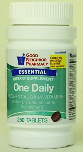 GNP One Daily 10 Essential Vitamins - 250 Tablets by Good Neighbor Pharmacy