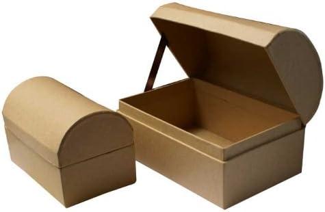 MEYCO conjunto de 2 Cofre del Tesoro - tapa redonda baúl cartón: Amazon.es: Hogar
