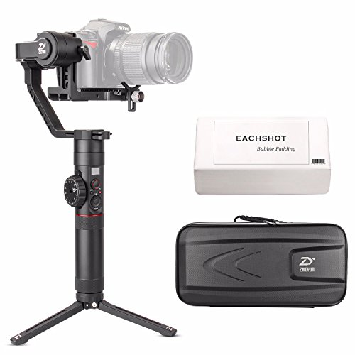 Zhiyun Crane 2 2017 Newest Ver 3-Axis Handheld Gimbal Stabilizer with Follow Focus 7lb Payload OLED Display 18hrs Long Runtime 1Min Toolless Balance Adjustment for Camera Weighing 1.1lb to 7lb by Zhiyun