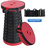 ALEVMOOM Portable Telescoping Stool Folding Camping Stool Seat for Fishing Hiking Traveling Outdoor Activities Telescopic Stool seat for Mountain Beach Pool Travel Retractable Folding Stool