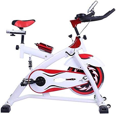 Riscko - Bicicleta Spining con Amortiguador Dbt-d-07 | Volante De Inercia 15 Kg | Cuadro de Acero | Manillar Ergonómico |Pulsómetro Integrado | Pedales Antideslizantes | Pantalla LCD Color Blanco: Amazon.es: Deportes y aire libre