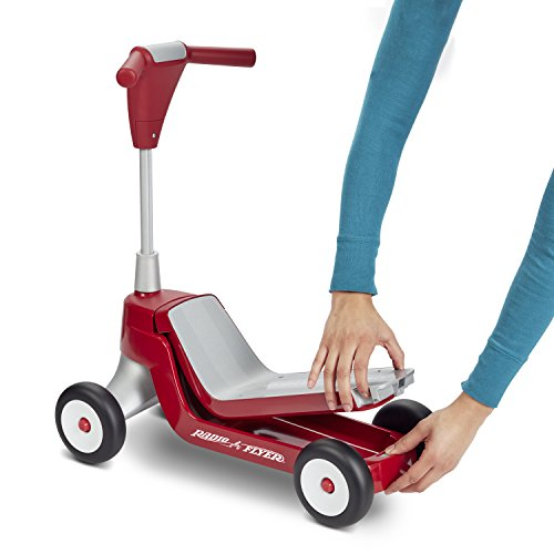 4123pLftcVL - Radio Flyer Scoot 2 Scooter Ride On