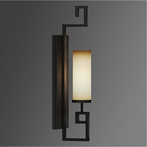 Clg Matte - CLG-FLY Chinese-style wrought-iron wall lamp single head drawing-room wall matte black bedroom light on Eastern Mediterranean American retro lighting study