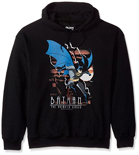 Trevco Men's Batman The Animated Series Lightning Strikeshoodie at Gotham City Store