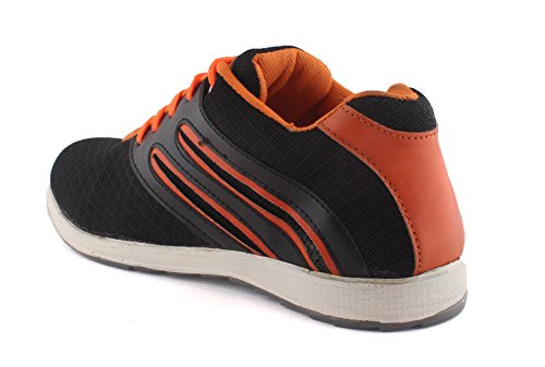 Redfoot AORFEO Unisex Orange and Black Men and Women Casual Sport Running Shoes and Leather Look Sneaker Shoe Shoes SP06 (9)