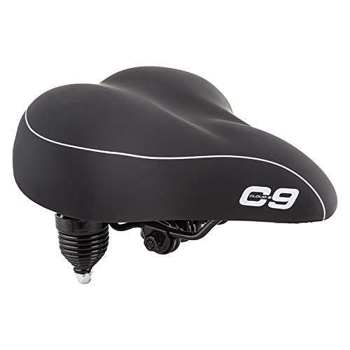 Sunlite Cloud-9 Bicycle Suspension Cruiser Saddle, Cruiser Gel, Tri-color Black (Bike Black Seat)