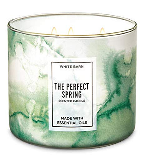 White Barn 14.5 oz 3 Wick Candle The Perfect Spring W Essential Oils (Perfect Spring)