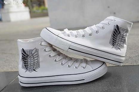 Amazon.com : Shingeki no Kyojin Attack on Titan Jiyu no Tsubasa Casual High Canvas Shoes : Sports & Outdoors
