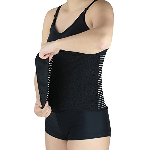 Luxe-Phillips Hospital Grade Postpartum Belly Wrap with Breathable Technology. Active Compression Quickly Reduces The Size of The Uterus Post Pregnancy for Faster Slimming Results. (Large) by Luxe-Phillips (Image #5)