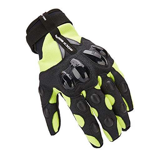 - Full Finger Motorcycle Gloves   Motocross Anti-Skid Slip Breathable Cycling Racing Locomotive Touchscreen Outdoor Gloves Male Summer Knight Equipment (Color : Green, Size : M)