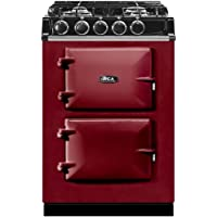 AGA ATC2DF City24 24 Inch Wide 2.84 Cu. Ft. Slide In Dual Fuel Range, Claret