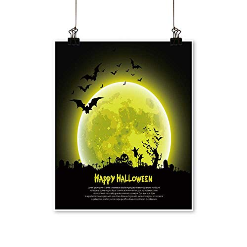 Hanging Painting Happy Halloween Message Design Background,Vector Rich in Color,28