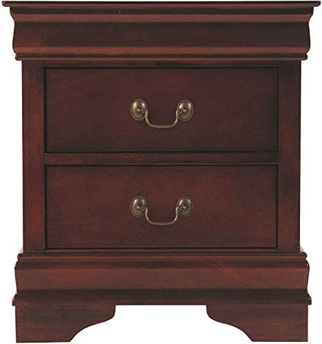 Ashley Furniture Signature Design – Alisdair Nightstand – 2 Drawers – Traditional – Rectangular – Dark Brown