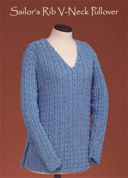 (Sailor's Rib V-Neck Pullover 126 Vermont Fiber Designs)