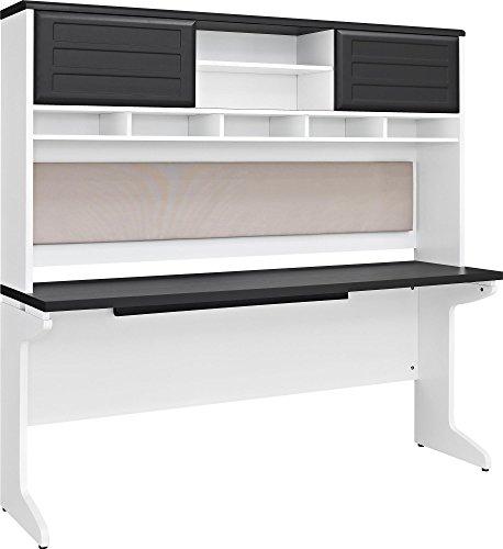 Ameriwood Storage Hutch - Ameriwood Home Pursuit Credenza and Hutch Bundle, Gray
