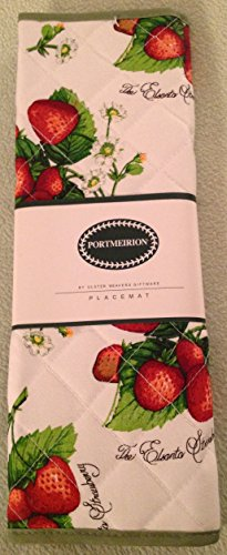 Portmeirion Strawberry (Portmeirion Strawberry Fair Quilted Single Octagonal Placemat)