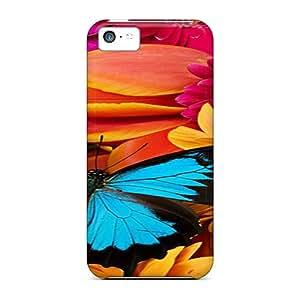 Apple Iphone 5c PlH1425XqOn Provide Private Custom Beautiful Butterfly Pattern Bumper Hard Phone Cover -ErleneRobinson