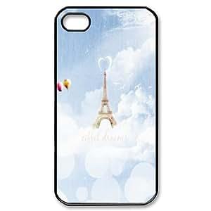 Yearinspace eiffel dreams iPhone 4/4s Cases, Elegant Design Iphone 4 Case For Teen Girls {Black}