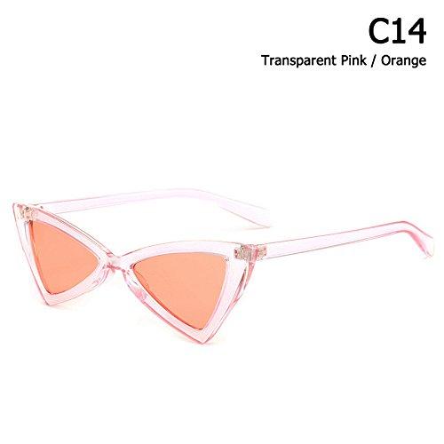 Gafas De C12 Triangular Sol Solnuevo De Mujer De Cat Limotai Sol Estilo Gafas Eye C14 Gafas w60RqP6C1x