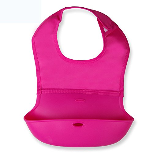 Chenille Bib Burp Cloth (EsTong Disposable and Waterproof Silicone Roll Up Bib Peachblow L)