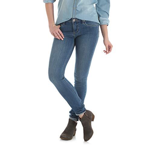 Wrangler Women's Western Mid Rise Stretch Skinny Jean, Medium Blue, 5X31