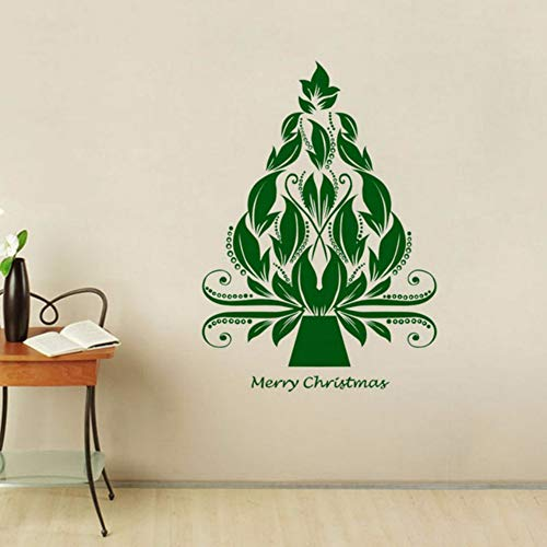 Pbldb 42X59Cm The Nightmare Before Christmas Tree Decorations for Home Merry Christmas Green Wall Stickers -
