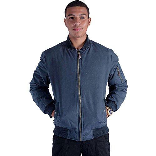 - Erin Garments Black Army Military Padded Bomber Jacket Men Plus Size Navy Olive Green Flight Winter Windbreaker Coat (X-Large, Navy)