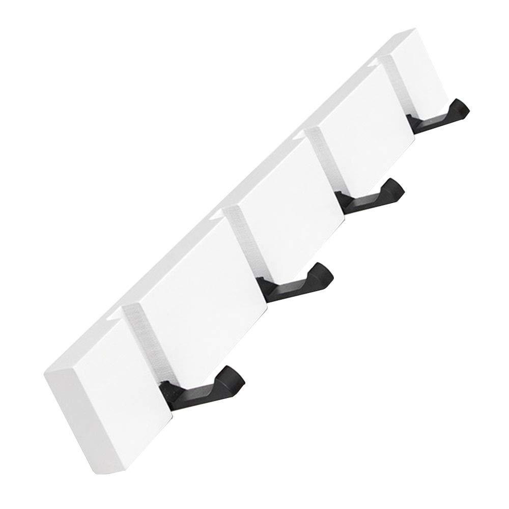 40cm Feifei Wall Mounted Floating Coat Rack – Modern, Sleek, Space-Saving Coat Hanger with Retractable Hooks, White (Size   20cm)
