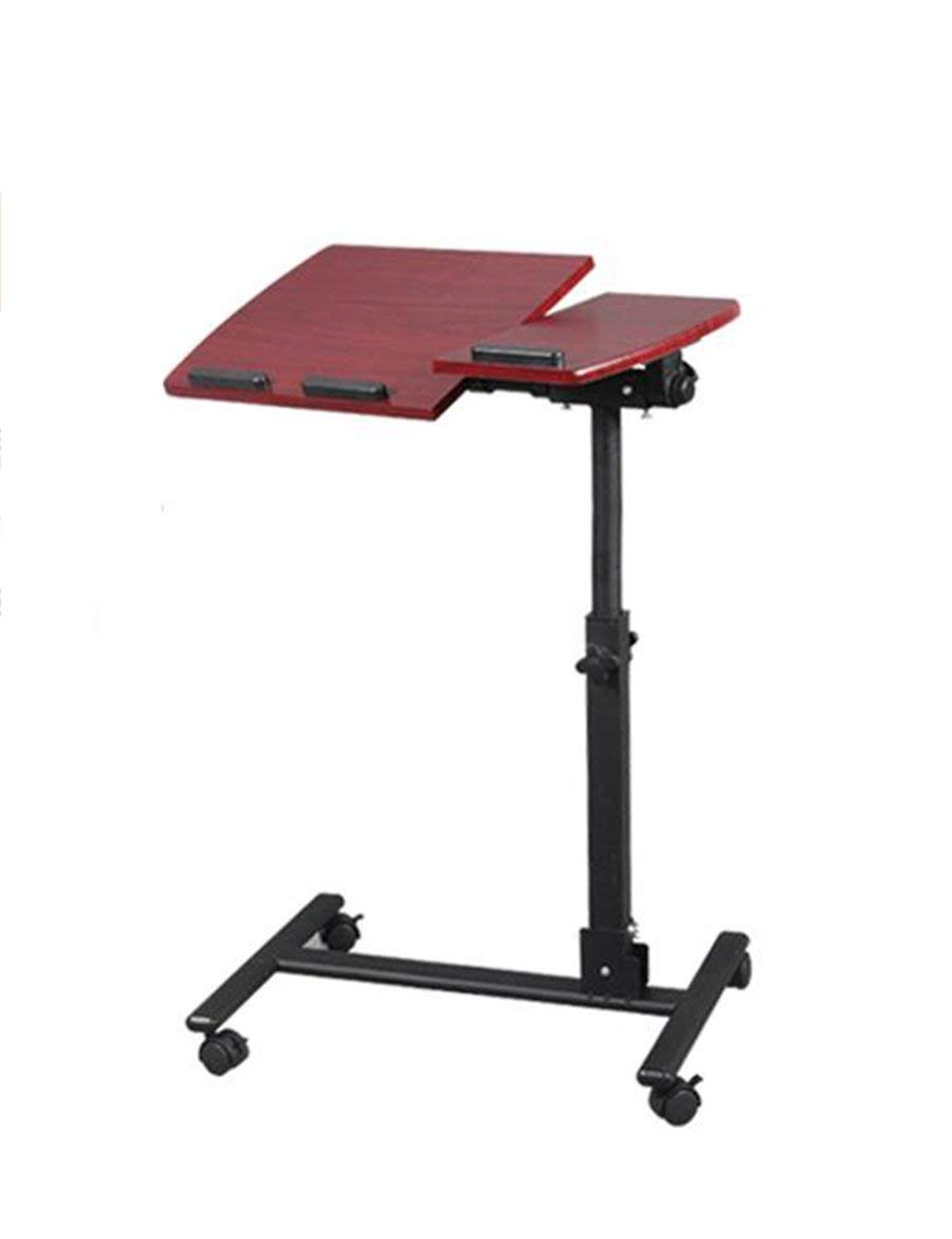 GUI Table-Simple Fold Adjustable Lift Bed with a Laptop Desk Space Saving Lazy Desk