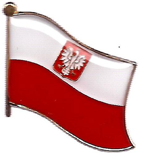 Pack of 3 Poland Eagle Single Flag Lapel Pins, Polish Eagle Pin Badge ()