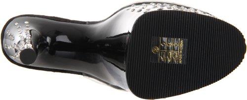 Pleaser STARDUST-801 Clr/Blk Size UK 8 EU 41