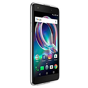 """Alcatel Idol 5S Unlocked Smartphone (AT&T/Sprint/T-Mobile/Verizon) - 5.2"""" HD Screen, 32 GB, 8MP Front-facing Camera, and Android 7.1 Nougat [Crystal Grey]"""