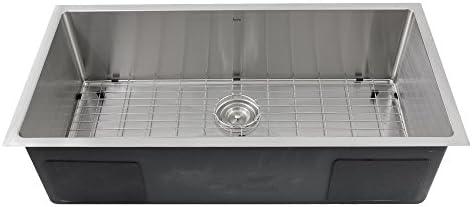 Nantucket Sinks SR3618-16 36-Inch Small Radius Large Rectangle Stainless Steel Undermount Kitchen Sink