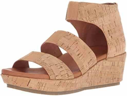 3f7ffe7971690a Gentle Souls Women s Milena Triple Stretch Strap Platform Sandal Heeled