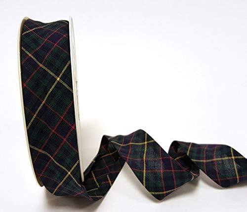 Fany Schr/ägband Meterware Dies ist EIN Schnitt aus Einer Rolle pr/äsentiert auf Einer Berties Bows-Karte. Dunkelgr/ün 25 mm