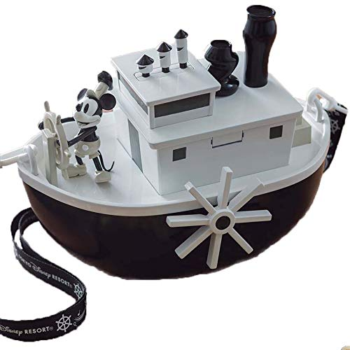 Disney Tokyo Exclusive Mickey Mouse Steamboat Willie Popcorn Bucket 90th Anniversary -
