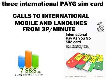 Three International Pay as You go - Tarjeta SIM: Amazon.es ...