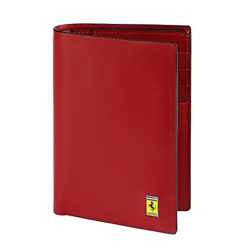 Mens Ferrari Cavallino Rampante Pocket Wallet One size Black by Ferrari