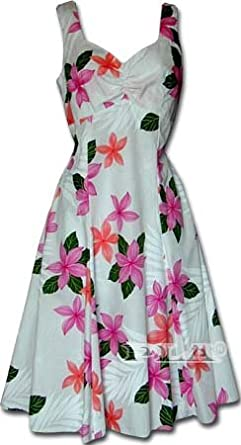 Collection Plumeria Hawaiian Dress - Womens Hawaiian Dress - Aloha Dress - Hawaiian Clothing - 100