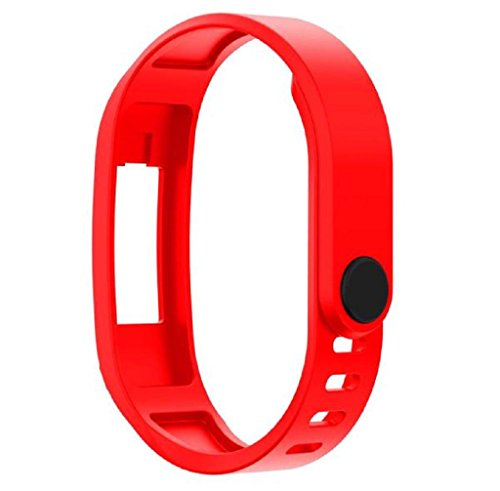 Anboo Adjustable Replacement TPU Wrist Band For Garmin vivofit 2 Smart Wristband Watch (Red)