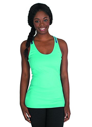 RBX Active Women's Ribbed Mesh Performance Tank Top,X-Large,Ocean Blue